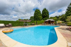 The Heath Retreat Swimming Pool, Buxted Holiday Cottage