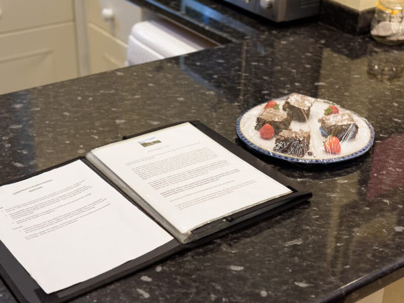 Welcome Chocolates - Buxted Sussex Holiday Cottage